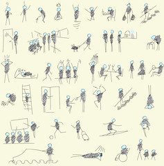 people. action. Doodle