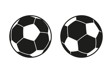 Set of icons of soccer balls. Football balls isolated on white background. Vector