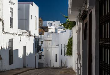 Narrow street of Vejer de la Frontera. Spain