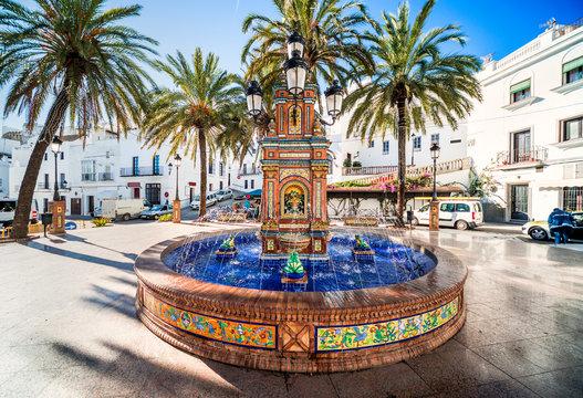 Fountain in Vejer de la Frontera. Spain