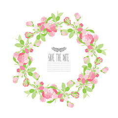 cherry blossom floral wreath