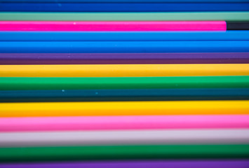 Colors pencils, colorful many crayons for background .