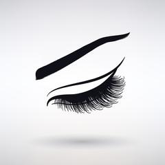Icon Female Long Eyelashes