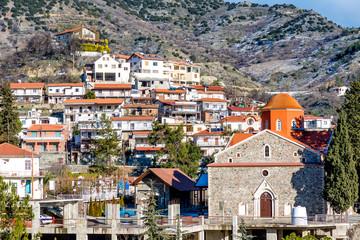 View of Agros village. Limassol District, Cyprus