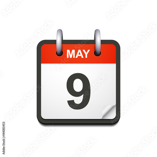 Calendar May Icon : Quot vector calendar icon with may date victory day