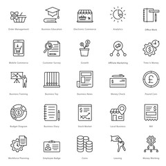 Banking and Finance Line Vector Icons 21