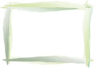 grün handgemachter Rahmen quer Pinselstrich