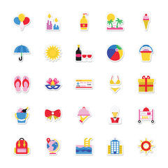 Summer and Holidays Vector Icons 11