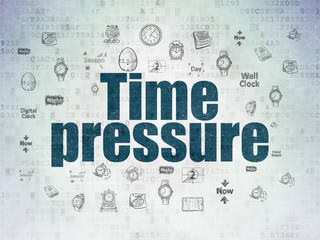 Time concept: Time Pressure on Digital Data Paper background
