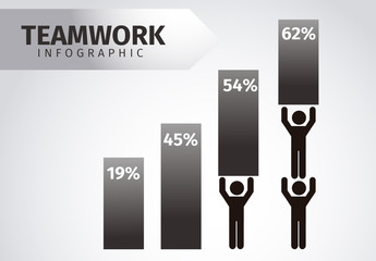 Teamwork Infographic with Pictograms