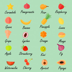 Various Fruits with the Names