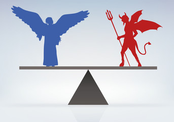 Ange - Démon - Diable - paradis - enfer - équilibre - balance - choisir - décider