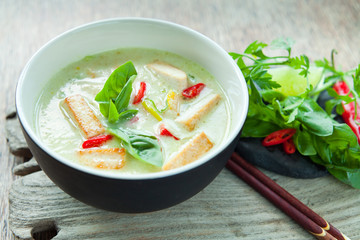 Vegetarian Tom Kha with Tofu