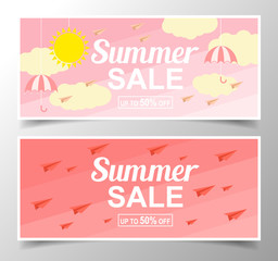 Summer sale background with glasses. Vector background for banner, poster, flyer, card, postcard, cover, brochure.