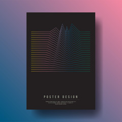 Abstract Geometric Lines Cover Design layout for banners, wallpaper, flyers, invitation, posters, brochure, voucher discount - Vector illustration template