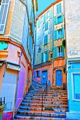 Cannes France Rue du Suquet in the old town