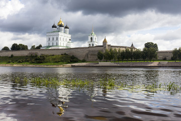 View of the Trinity Cathedral in the Pskov Kremlin