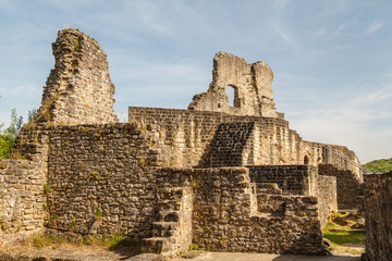 Ruins of the medieval Larochette castle, Luxembourg