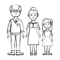 silhouette couple with their daughter icon