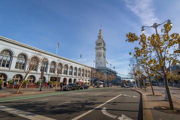 Deurstickers San Francisco San Francisco Ferry Building in Embarcadero - San Francisco, California, USA