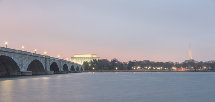 Arlington Memorial Bridge to Lincoln Memorial