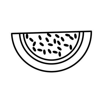 watermelon fruit fresh outline vector illustration eps 10