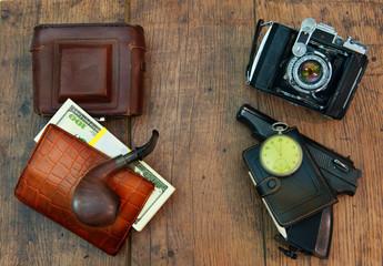 Gentleman's set of creative photographer