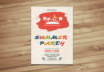 Illustrated Summer Event Flyer Layout 2