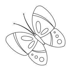 Spring butterfly. Easter single icon in outline style vector symbol stock illustration.