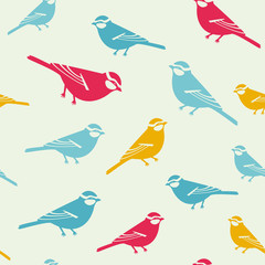 Birds colored background tender pattern