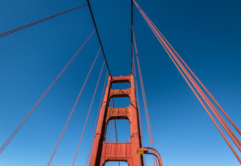 Fotomurales - Golden Gate Bridge Detail - San Francisco, California, USA