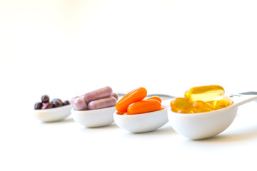 Vitamins and Healthy Supplements.