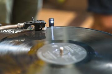 Vinyl phonograph disk