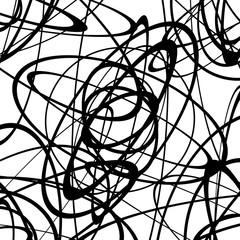 Geometric monochrome texture / pattern with random shapes. Abstract geometric art