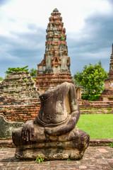 Broken Buddha image in King Narai Palace