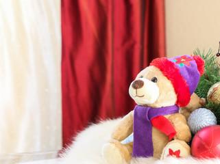 Bear and Christmas decoration