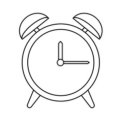 clock device icon over white background. vector illustration