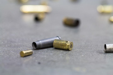 Spent shell casings.