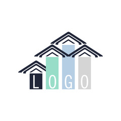 design concept, construction, flat style of lines and planes .contrasting colors. logo, poster, banner