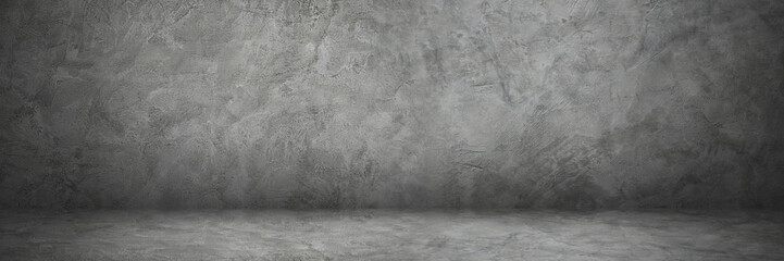 Wall Mural - horizontal cement wall and floor with shadow for background and design