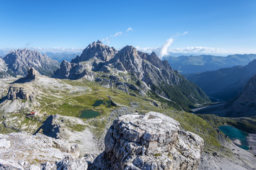 Sesto/Sexten, Dolomites, South Tyrol, province of Bolzano, Italy. View from the summit of Monte Paterno/Paternkofel