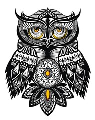 Vector Tattoo Art Owl