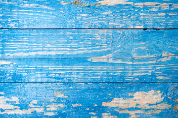 old painted blue wooden surface texture