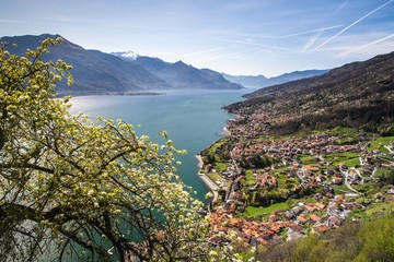 Lario seen from the village of Musso. Lombardy, Italy Europe