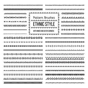 Ethnic Style Pattern Brushes Set