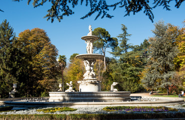 Madrid city in november - shots of Spain