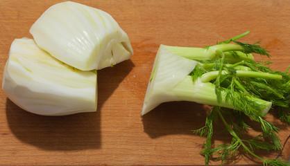 Cut fennel.