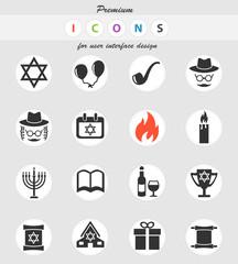 hanukkah icon set
