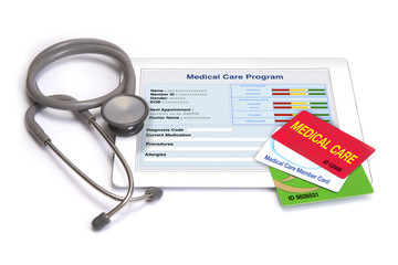 Medical care cards and personal health information.