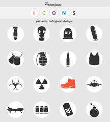 war symbols icon set
